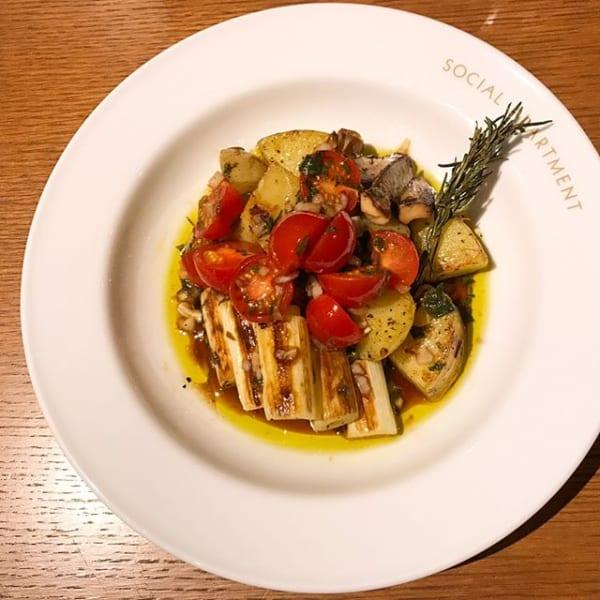 グリル野菜とフレッシュトマトのサラダマリネ