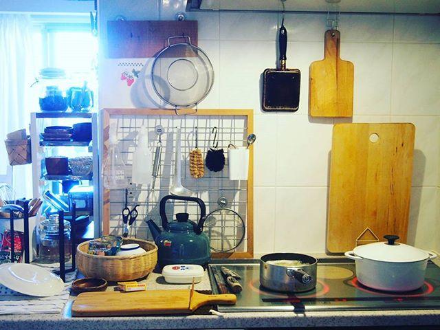 2DK キッチンインテリア 収納