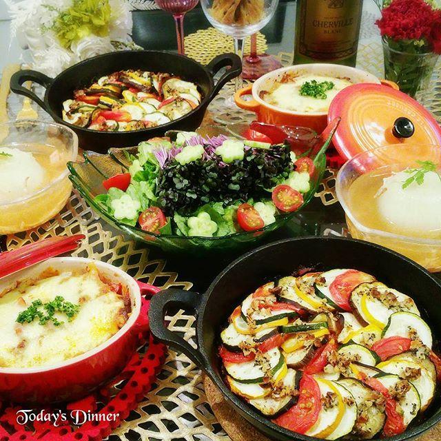 夕飯メインおかずレシピ:夏野菜ラタトゥイユ
