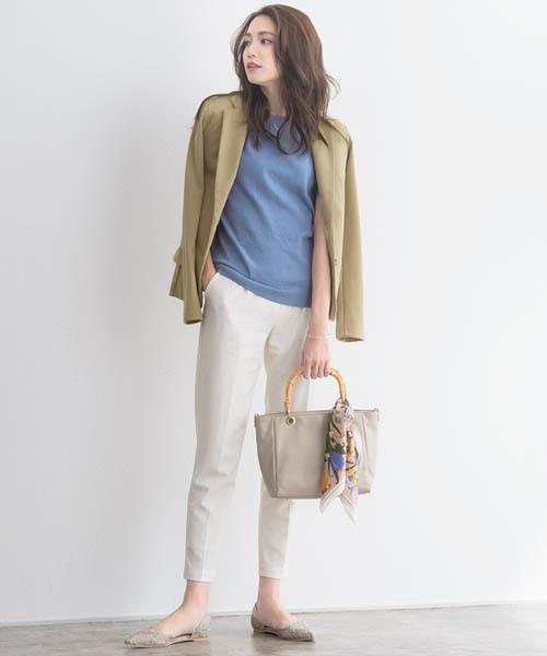 [Pierrot] ポンチ素材テーラードジャケット