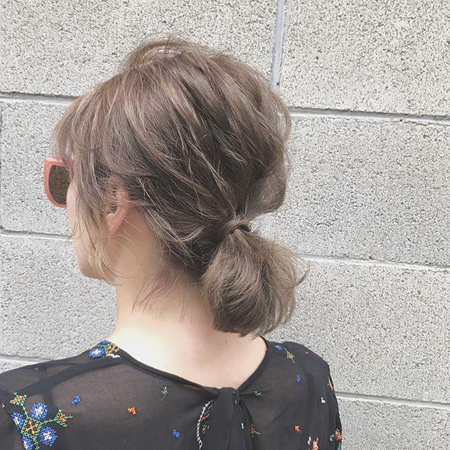 大人 ボブ 髪型 ヘアアレンジスタイル3