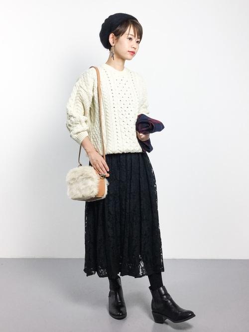 黒スカート16