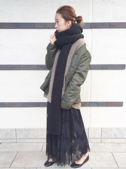 黒スカート15