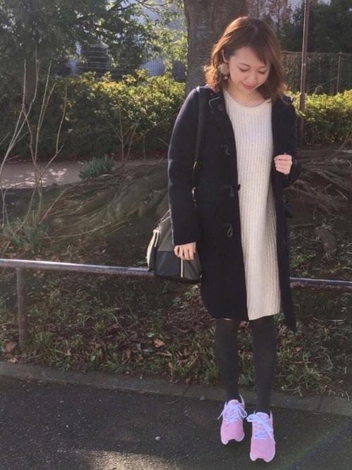 [haco!] 【人気急上昇】NUSY パプコーン編みがかわいいおしゃれニットワンピース