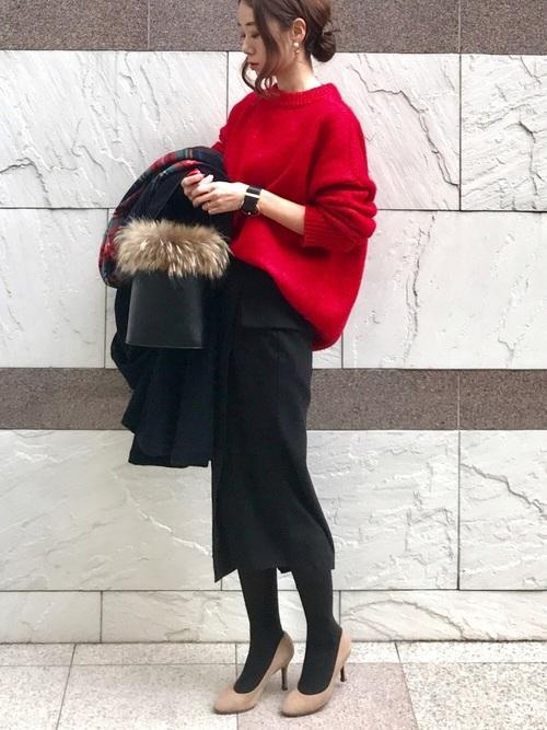 黒スカート6