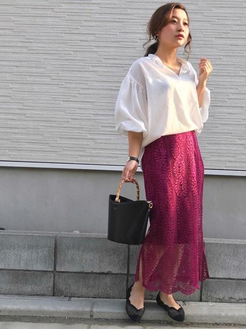 色っぽくて素敵♡レーススカートスタイル