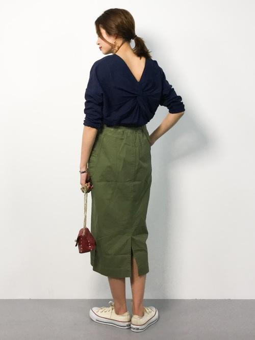 [STYLE BAR] 【STYLEBAR】ミリタリータイトスカート