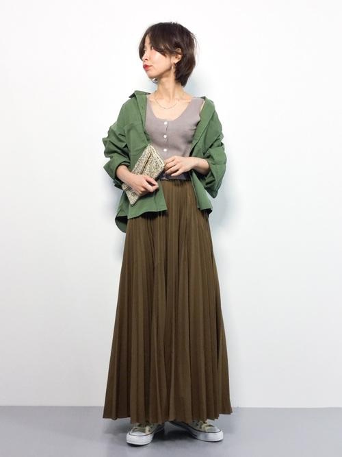 [PAGEBOY] BIGシルエットミリタリーシャツ