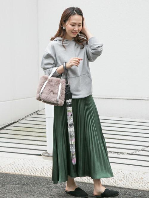 [URBAN RESEARCH] メタリックプリーツスカート