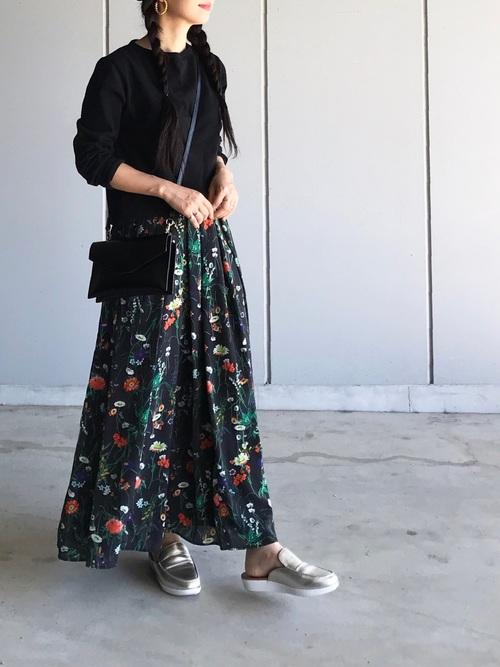 [NOISE MAKER] 新色&新柄発売 ★ボタニカル花柄スカート★
