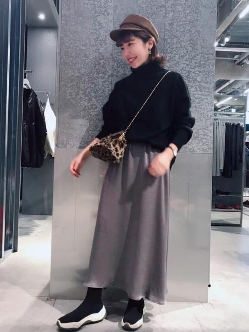 [koe] サテンロングスカート