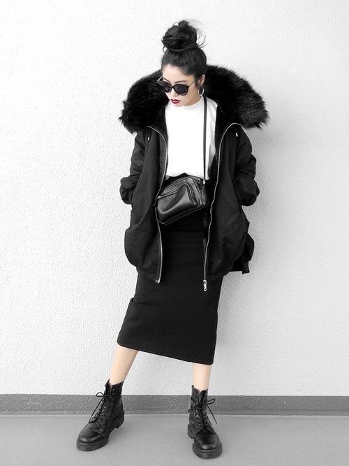 黒スカート4