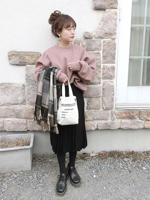 黒スカート7