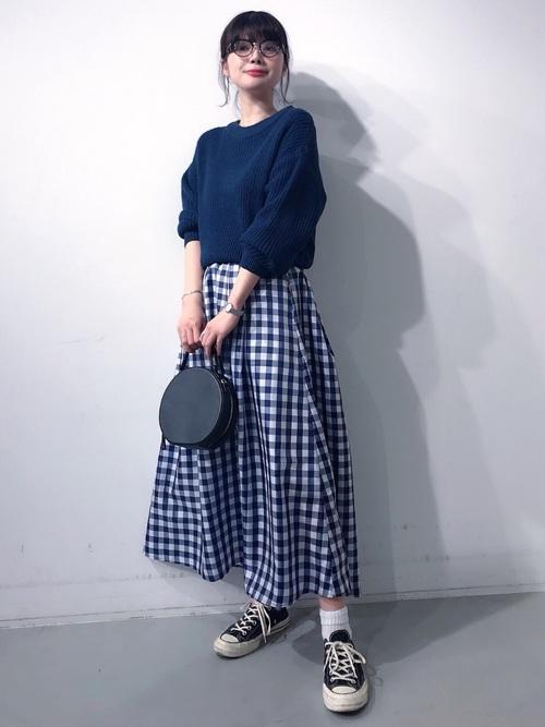 [koe] チェックタフタスカート