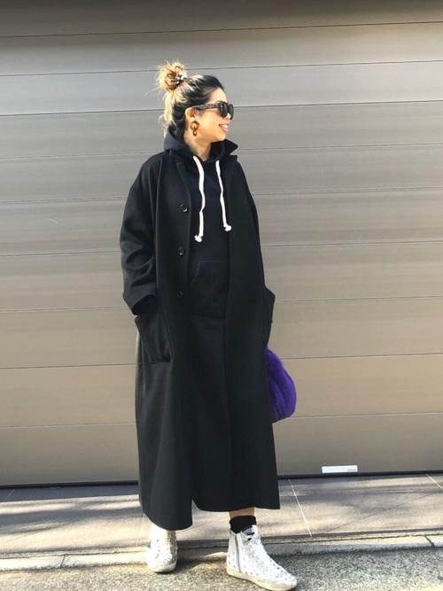 [Fashion Letter] 裏起毛スウェット ルームウェアワンピース