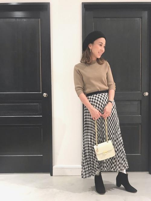 [BANNER BARRETT] CHECK PLEATS SKIRT / チェックプリーツスカート