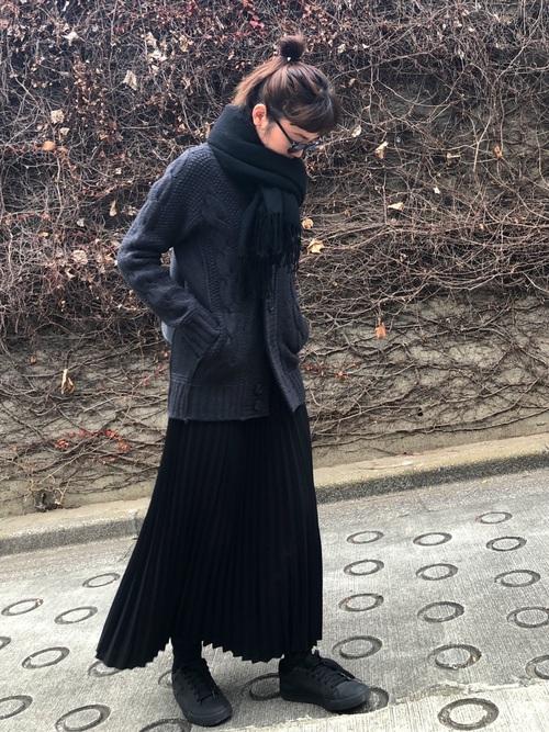黒スカート11