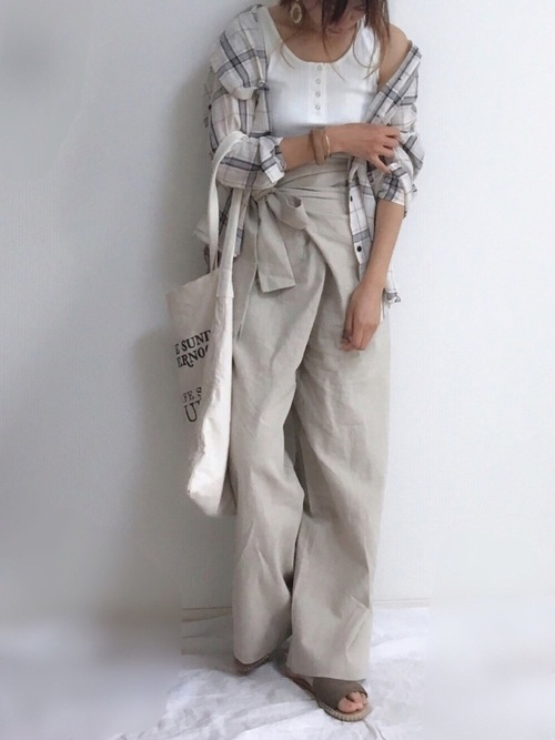 [Auntie Rosa] 【Holiday】チェックシャツ◆ZOZOTOWN限定◆