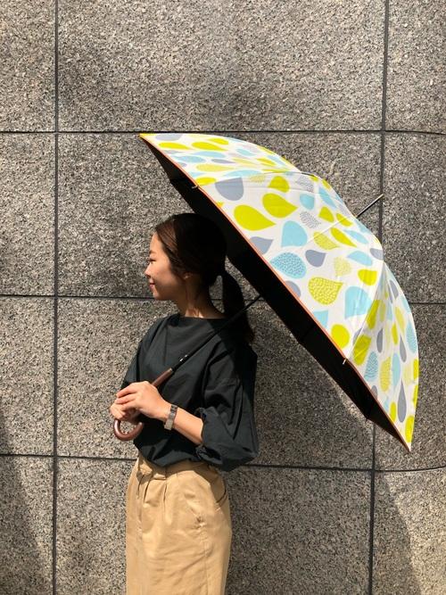 [macocca] 遮光率・UV遮蔽率99.9% ブラックコーティング晴雨兼用 ジャンプ傘 ドロップ柄