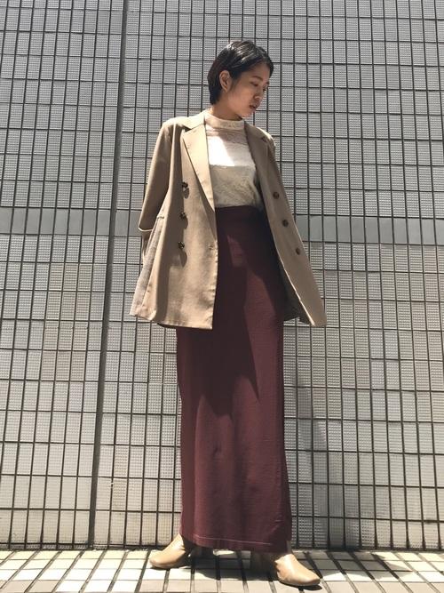 [LAGUNAMOON] ブロッキングチェックドロストジャケット