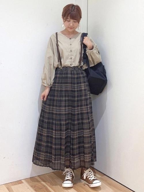 [Samansa Mos2] 柄アソート消しプリーツスカート