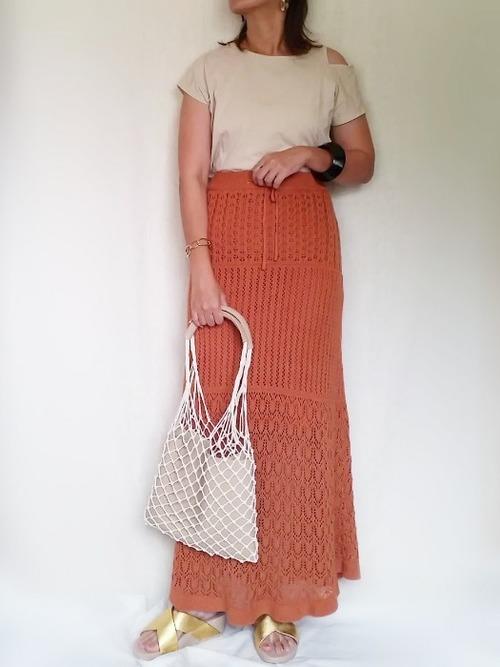 透かし編みニットスカート3
