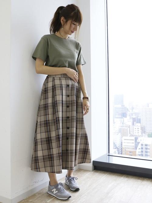 [SEVENDAYS=SUNDAY] タックサーキュラースカート★〇