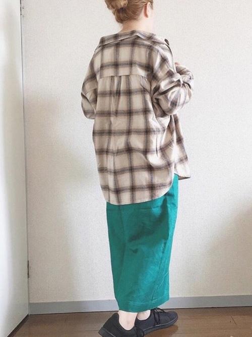 フランネルチェックシャツ2