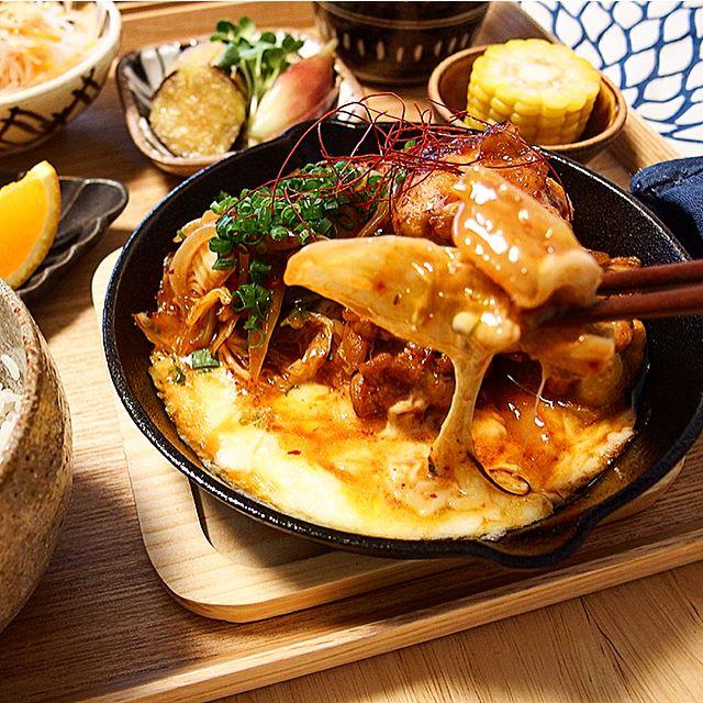 シンプルな魚料理に!手羽元のチーズタッカルビ