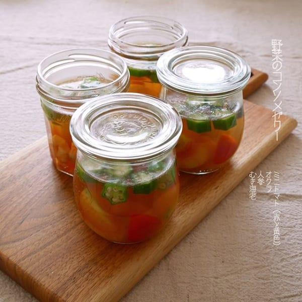 ⑱作り置きおかず:野菜のコンソメゼリー