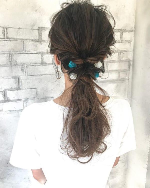 くるりんぱポニーテール特集♡不器用さんでも簡単にできるモテ髪