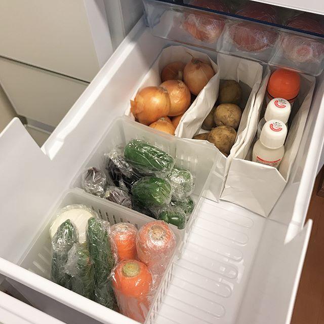 冷蔵庫収納 ダイソー 紙袋