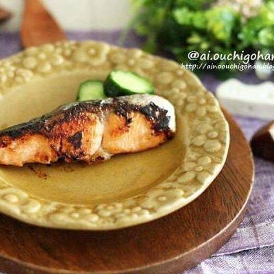 濃厚に!鮭のこんがりバター照り焼き