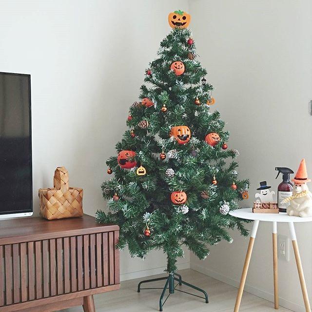 ジャックオーランタンの飾り付けが楽しいツリー