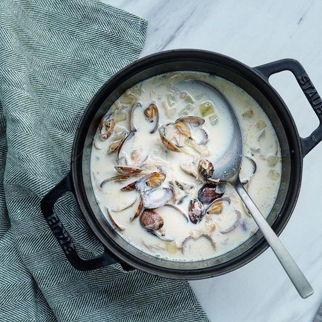 夕飯人気スープレシピ:豆乳チャウダー