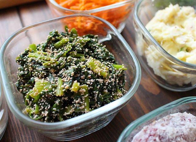 小松菜 お弁当 おかず 副菜 レシピ18
