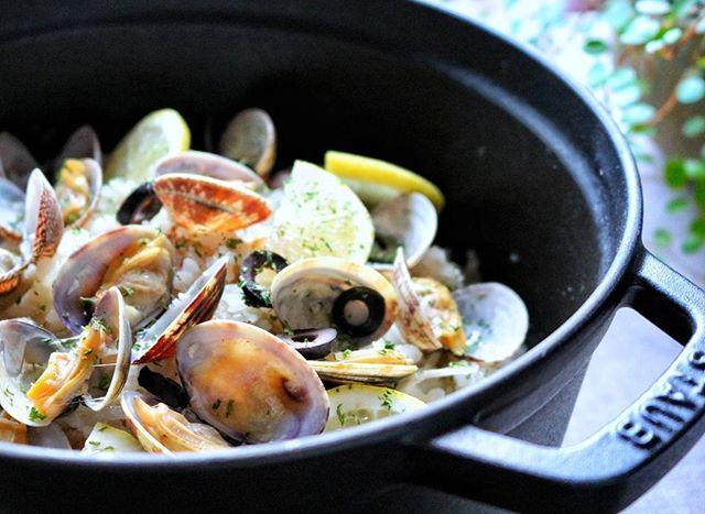 あさりとごぼうの洋風炊き込みご飯
