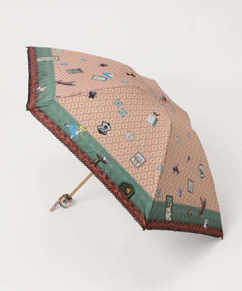 [Rendez-Vous] Disney Lifestyle Collection ディズニー 晴雨兼用傘 キャンバスパラソル (ミニ/折りたたみタイプ)