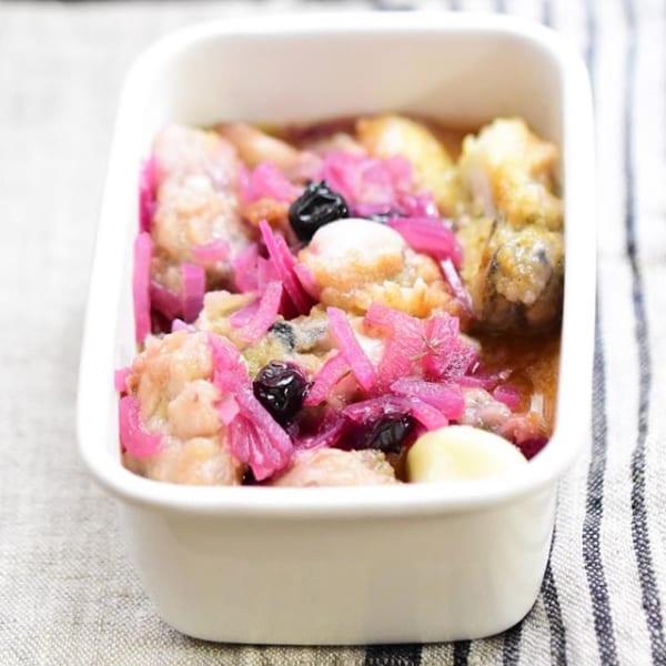 ありそうでなかった!牡蠣のブルーベリーマリネ