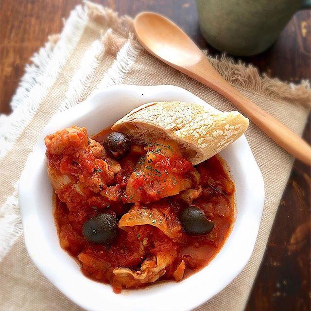 おすすめの便利な料理!チキンのトマト煮込み