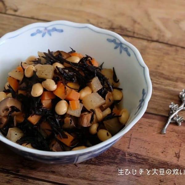 ⑱お弁当おかず:生ひじきと大豆の炊いたん