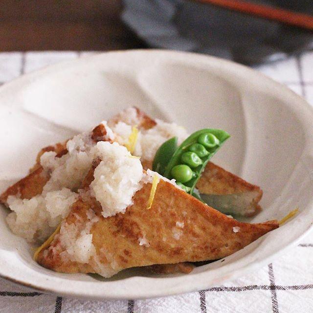 厚揚げ豆腐の白だしを使った絶品おろし煮