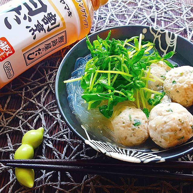 使い方簡単レシピ!大葉鶏団子と春雨の白だし煮