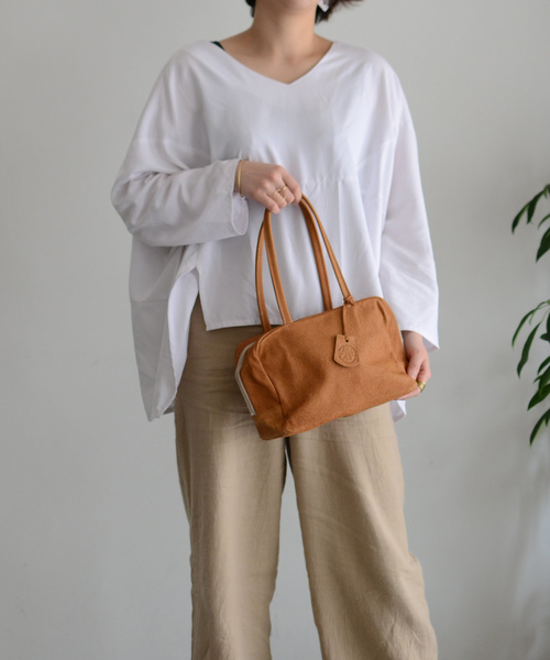 [REN] 【RENレザーハンドバッグ】ハリー・スクエアダッフルXS ロングハンドル