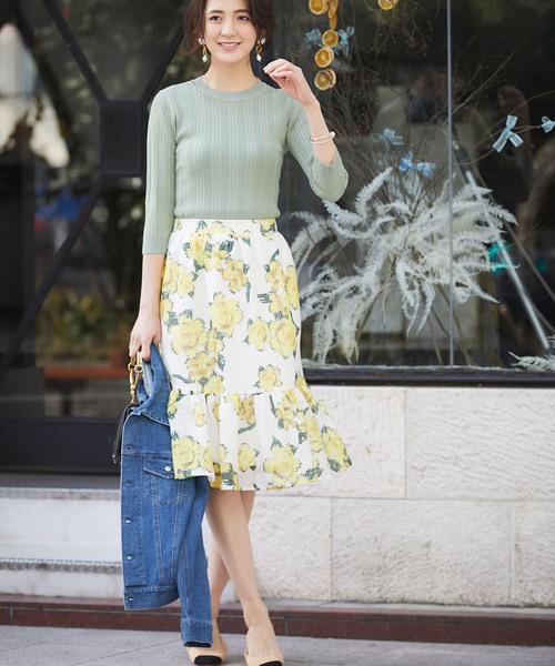 [tocco closet] 花柄メッシュスカート
