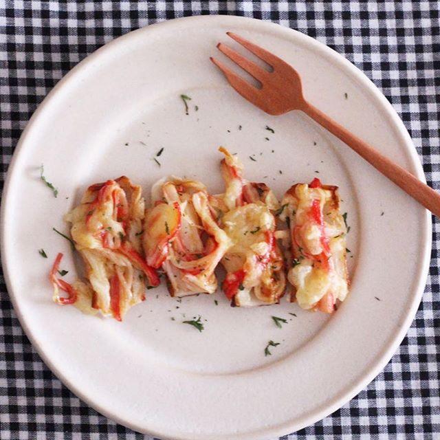 カニカマとちくわのトースターチーズ焼き弁当