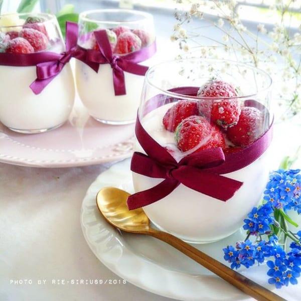 ㉑簡単デザートレシピ:カルピスブラマンジェ