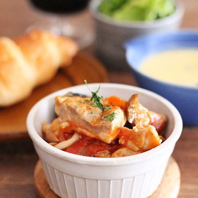 塩風味が上品!なすのラタトゥイユ風トマト煮