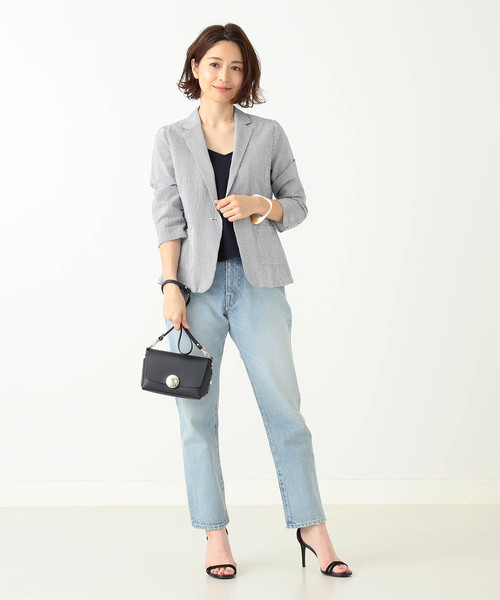 [BEAMS WOMEN] Demi-Luxe BEAMS/ CANCLINI シャツジャケット