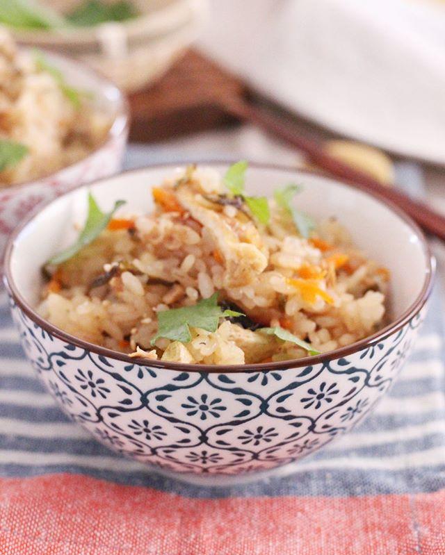 和食のおでんと!爽やかしそ昆布の炊き込みご飯
